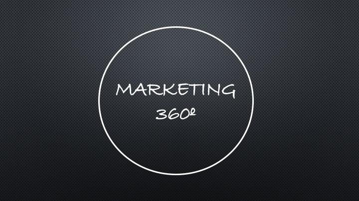 ¿Qué es la estrategia de marketing360º?