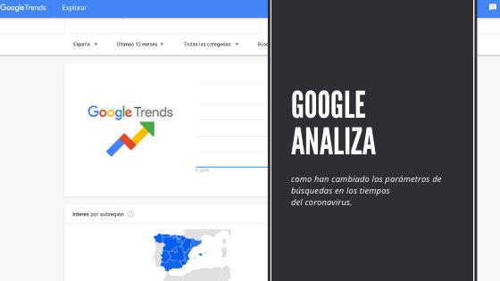 Google analiza como han cambiado los parámetros de búsquedas en los tiempos delcoronavirus